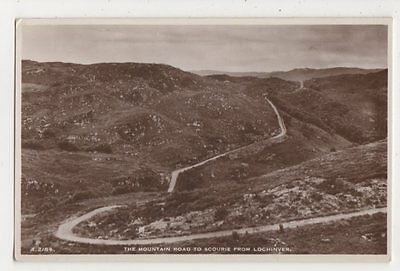 The Mountain Road to Scourie from Lochinver RP Postcard, B409