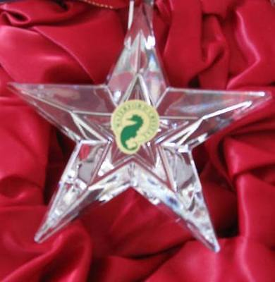 Waterford Crystal $55 Made Ireland Crystal Five Point NO DATE Star Christmas NIB