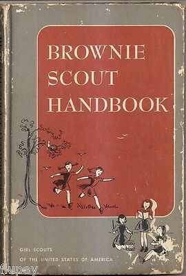 1951 Girl Scouts of America Brownie Scout Handbook with Troop Photo