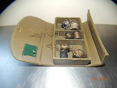 nt938) Vintage  Army Green  Military Sewing Kit