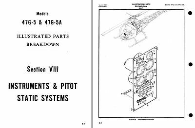 BELL-47 PARTS SERVICE MANUAL ARCHIVE rare historic details H-13 Sioux 1970's