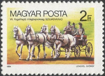 Hungary 1984 Horses/Coach/Equestrian Sports/Animals/Nature/Transport 1v (n45450)