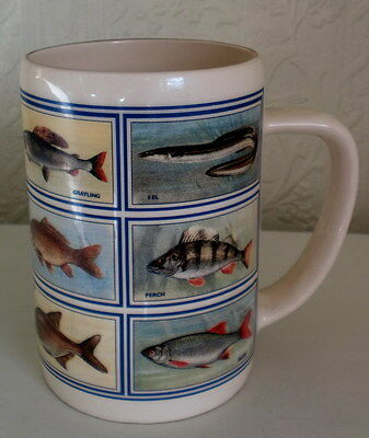 COLLECTABLE LARGE 'FISH' MUG - by DIAMOND PRINT & CERAMICS - EXCELLENT CONDITION
