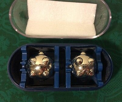Nikken Magboy 61B-1833 Spiked Magnetic Massage Therapy Balls With Case!!!