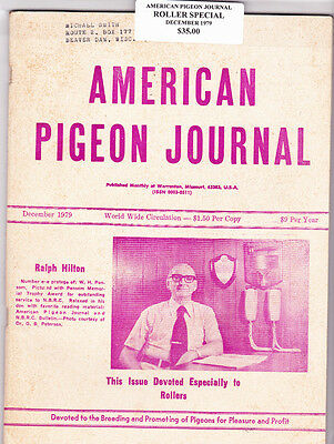 American Pigeon Journal~ 1979 Roller Breed Special~High Demand Issue