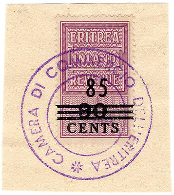 (I.B) BOIC (Eritrea) Revenue : Duty Stamp 85c on 90c OP
