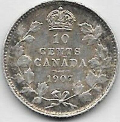 10 Cents argent 925/1000 Canada 1907