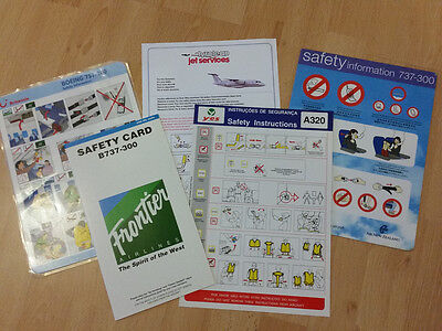# Lot 5 Safety Cards - 126 (D38 Tyrolean, 733 Air New Zealand, 320 Yes, ..) #