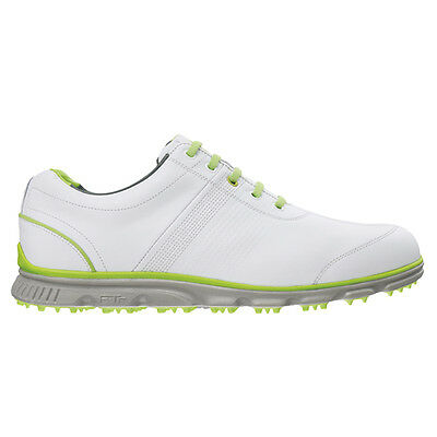 FootJoy Dryjoys Casual Golf Shoes #53655 - White / Lime - UK 8 M 2015