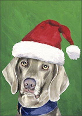 Large Indoor/Outdoor Christmas Flag BVV - Weimaraner 27057