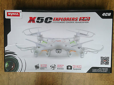 **Syma X5C Explorers 2.4G 4CH RC Quadcopter Gyro/ Flash Lights, A 360-degree NEW