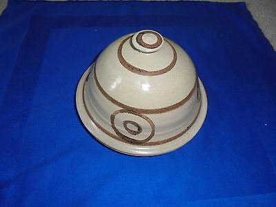Vintage  Stoneware Cheese / Butter Dish - Abaty Pottery, Wales