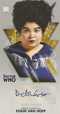 "Doctor Who Widevision: Gold Debbie Chazan ""Foon Van Hoff"" Autograph Card #1/1"