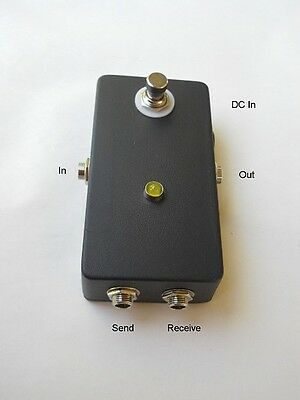 """""""Bypass Looper"""" MXR Style Pedal Effects FX Send/Receive Switchable Black"""
