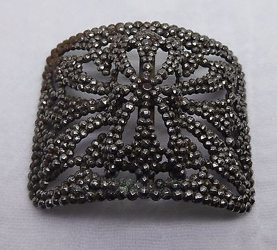 Antique / Vintage Marcasite Embellishment Buckle Made In France - As Found