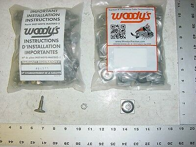 96 WOODYS Signature Series Stud 1.325 Studs Square Alum Backer Snowmobile Track