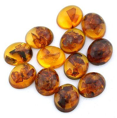ONE 12x10 12mm x 10mm Oval Natural REAL Baltic Amber Cab Cabochon Gem EBS8036