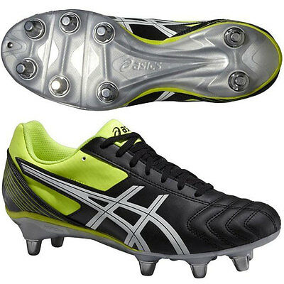 Asics Mens Lethal Tackle 8 Stud Rugby Boots (P507Y-9001) UK 6 - UK 14