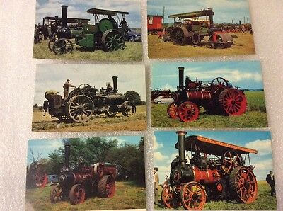 Steam Tractors. 6 postcards. Very nice condition. Please see photos.
