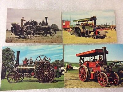 Steam Tractors. 4 postcards. Very nice condition. Please see photos.