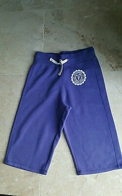 Girls Purple 3/4 length baggy track suit bottons age 10 /12 yrs by H&M