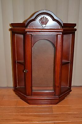 """23.5"""" x16"""" Wood w/Glass Front Doll-Collectible Wall Display Case/ Curio/ Cabinet"""