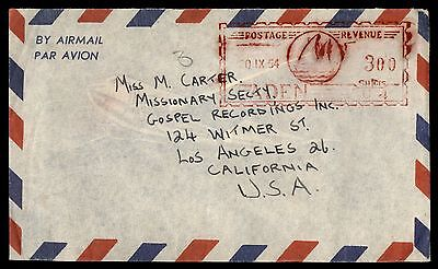 Aden 1954 Aden Sep 20Th Air Mail To Ca Usa   Cover