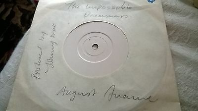 """Smiths Johnny Marr Produced 7"""" Test Press The Impossible Dreamers August Avenue"""