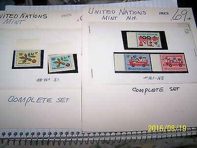 UNITED NATIONS Mixed Lot of Stamps ALL MINTS LOT 2
