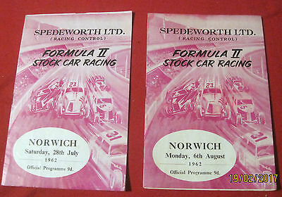 Firs Stadium Norwich  Stock Car Racing .july 28 & August 6 , 1963