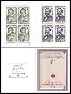 STAMPS - France Carnet CROIX ROUGE 1958 NEUF** LUXE