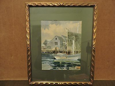 19th Century Framed Watercolor signed by artist