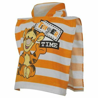 "GENUINE DISNEY BABY POOH ""TIGGER TIME"" HOODED BATH PONCHO/TOWEL 0-24 Months"