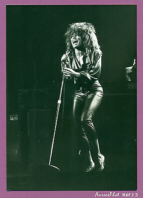"PHOTO de PRESSE TINA TURNER,  Emission A2 "" LES ENFANTS DU ROCK "" 1985 -J3"