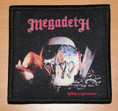 "MEGADETH ""KILLING IS MY BUSINESS"" silk screen PATCH"