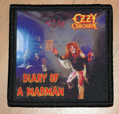 "OZZY OSBOURNE ""DIARY OF A MADMAN"" silk screen PATCH"