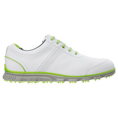 FootJoy Dryjoys Casual Golf Shoes #53655 - White / Lime - UK 10 M 2015
