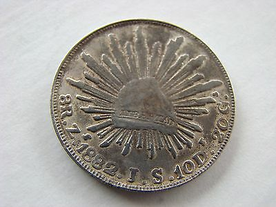 1882 Mexico 8 Reales Zs. Silver