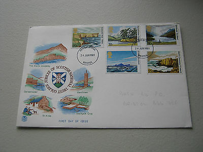Stuart FDC - 1981 - National Trust - with Bristol cancel (1565)