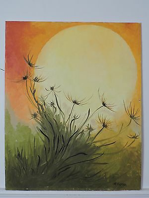 Unframed Original Oil on Board painting signed by artist