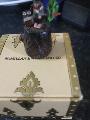 McMillan And Wife Of Hand Painted Pewter Thimble