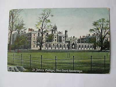 Postcard  of St John's College, New Court, Cambridge (posted 1905)
