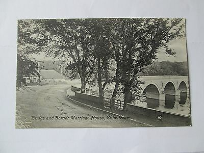 Postcard of Bridge and Border Marriage House, Coldstream