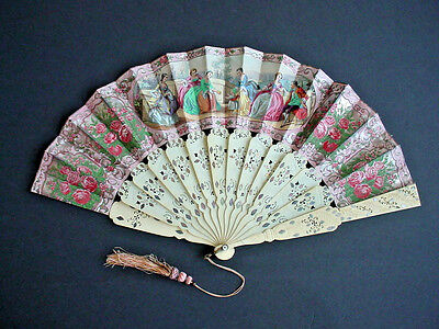 Beautiful 19th Century Antique Ladies Hand Fan