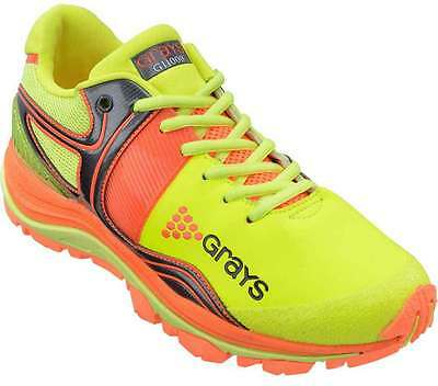 Grays G11000 Hockey Shoes Sports Astro Trainers Lime/Orange