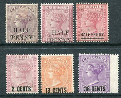 MAURITIUS QV 1876-78 Overprinted MH Lot 6 Stamps