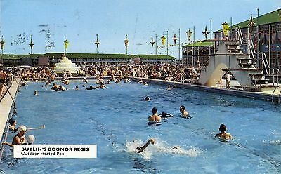 Butlin's Holiday Camp - Bognor Regis - Outdoor Heated Pool - Official Postcard
