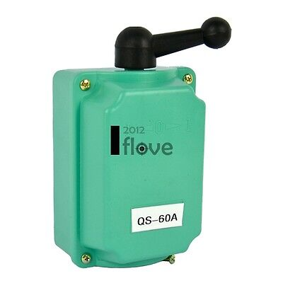60A Drum Switch Forward/Off/Reverse Motor Control Rain-proof Reversing 60A ILOE