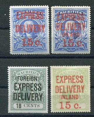 MAURITIUS 1903-04 EXPRESS MH Lot 4 Stamps cat £105