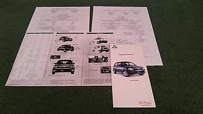2004 2005 Perodua Kelisa Uk Folder Brochure + Price List & Specification Sheets